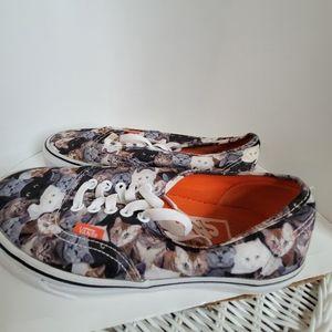 VANS RARE ASPCA Authentic Kitty Print Sneakers